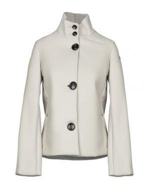 Пальто RRD. Цвет: светло-серый