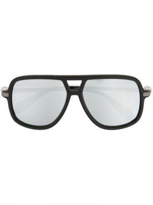 Солнцезащитные очки в толстой оправе Alexander Mcqueen Eyewear. Цвет: чёрный
