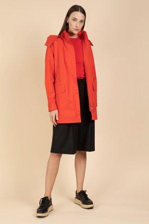 Куртка-парка средней длины VASSA&Co. Цвет: красный