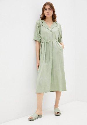 Платье Dimma. Цвет: зеленый