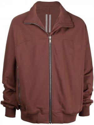 Куртка на молнии с высоким воротником Rick Owens. Цвет: красный