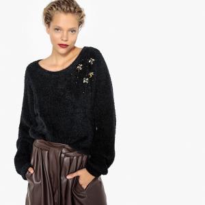 Пуловер с украшениями LA REDOUTE COLLECTIONS. Цвет: темно-зеленый,черный