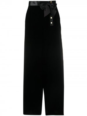 Юбка макси 1990-х годов с бантом Chanel Pre-Owned. Цвет: черный