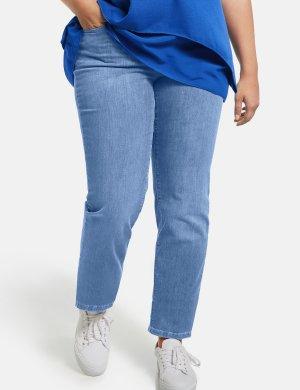 Джинсы с широкими штанинами, Jenny SAMOON Gerry Weber. Цвет: light blue denim