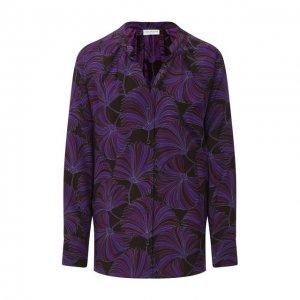 Шелковая рубашка Dries Van Noten. Цвет: фиолетовый