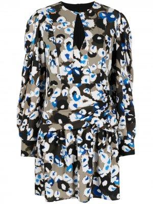 Короткое платье Deon с принтом Lala Berlin. Цвет: зеленый