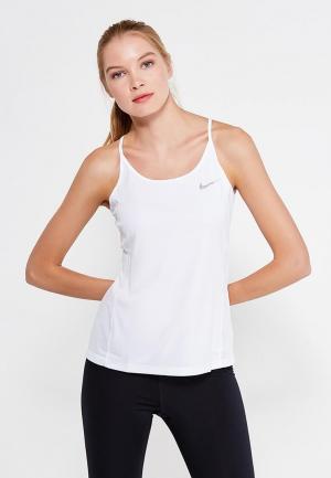 Майка спортивная Nike W NK DRY MILER TANK. Цвет: белый