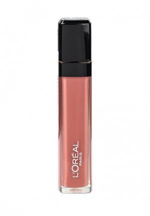Блеск для губ LOreal Paris L'Oreal Infaillible, Мега Блеск, Безупречный, матовый, оттенок 401, Аминь, 8 мл. Цвет: розовый