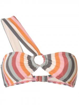 Лиф-бандо Rainbow асимметричного кроя Peony. Цвет: разноцветный