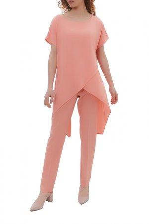 Комплект: блузка, брюки Argent. Цвет: персиковый