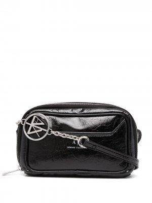 Logo-print crossbody bag Armani Exchange. Цвет: черный