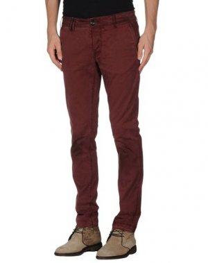 Повседневные брюки CYCLE. Цвет: красно-коричневый