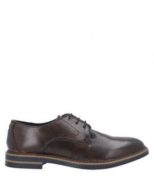 Обувь на шнурках BASE London. Цвет: какао