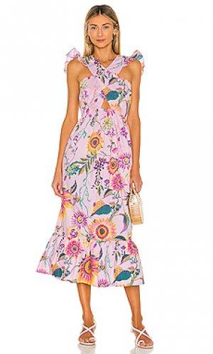 Платье cecil Banjanan. Цвет: розовый