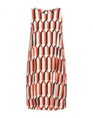 Короткое платье 1-ONE. Цвет: оранжевый