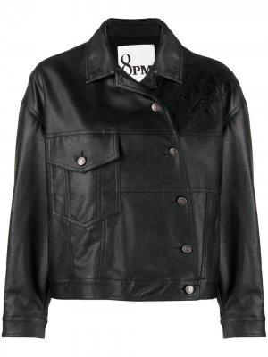 Куртка асимметричного кроя 8pm. Цвет: черный