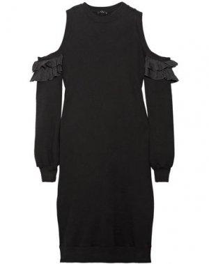 Платье до колена CLU. Цвет: черный