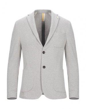 Пиджак GAZZARRINI. Цвет: светло-серый
