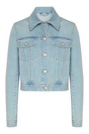 Голубая джинсовая куртка Gucci. Цвет: голубой