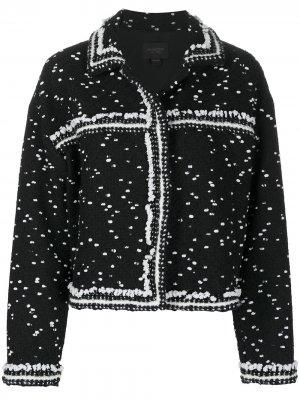 Твидовый пиджак свободного кроя Giambattista Valli. Цвет: черный