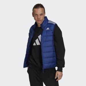 Пуховый жилет Essentials TERREX adidas. Цвет: синий