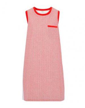 Короткое платье CLU. Цвет: кирпично-красный
