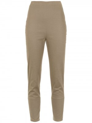 Cropped trousers Gloria Coelho. Цвет: зеленый