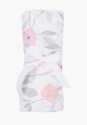 Пеленка aden+anais Ma fleur, 120х120 см. Цвет: белый