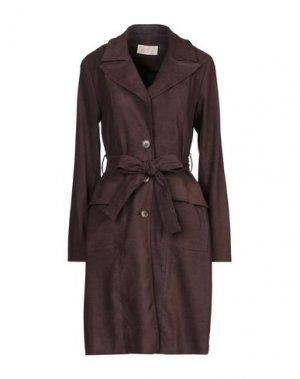 Легкое пальто KAOS JEANS. Цвет: коричневый