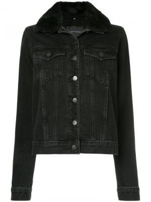 Джинсовая куртка с воротником из искусственного меха Nobody Denim. Цвет: черный
