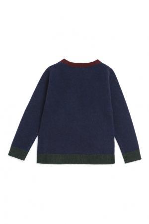 Пуловер синий Bonpoint. Цвет: синий
