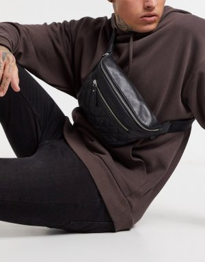 Стеганая сумка-кошелек на пояс -Черный Bolongaro Trevor