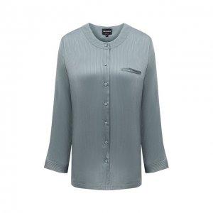 Шелковая рубашка Giorgio Armani. Цвет: зелёный
