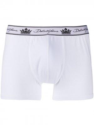 Боксеры с логотипом Dolce & Gabbana. Цвет: белый