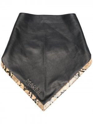 Бандана с вышитым логотипом Marni. Цвет: черный