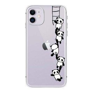 Чехол для iPhone с принтом панды 1шт SHEIN. Цвет: прозрачный