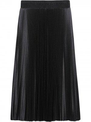 Плиссированная юбка миди Balenciaga. Цвет: черный