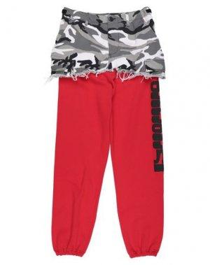 Повседневные брюки VETEMENTS. Цвет: красный