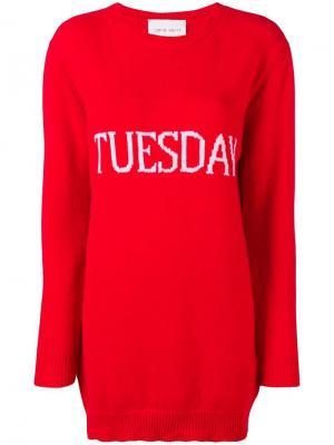 Tuesday sweater dress Alberta Ferretti. Цвет: красный