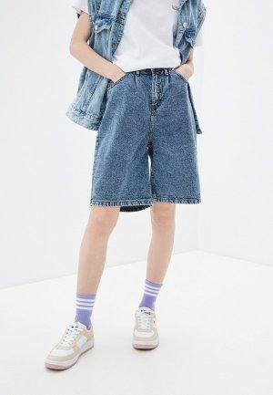 Шорты джинсовые Incity. Цвет: синий