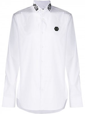 Рубашка Plein Star с длинными рукавами Philipp. Цвет: белый