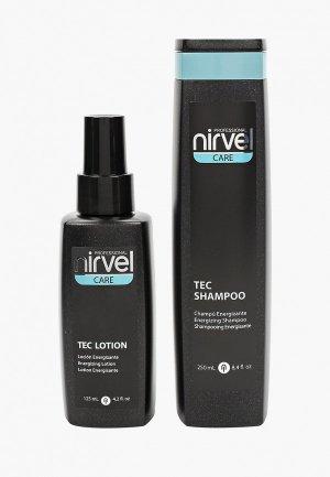 Набор для ухода за волосами Nirvel Professional CARE роста волос укрепляющий tec 250 мл + 125. Цвет: прозрачный