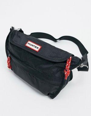 Черная складываемая сумка через плечо из ткани рипстоп Original-Черный Hunter