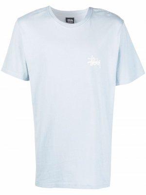 Футболка с логотипом Stussy. Цвет: синий