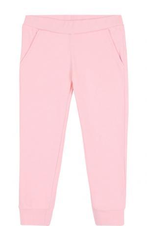Хлопковые джоггеры Fendi. Цвет: розовый