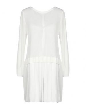 Короткое платье ANNA RACHELE JEANS COLLECTION. Цвет: белый