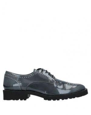 Обувь на шнурках EVALUNA. Цвет: свинцово-серый