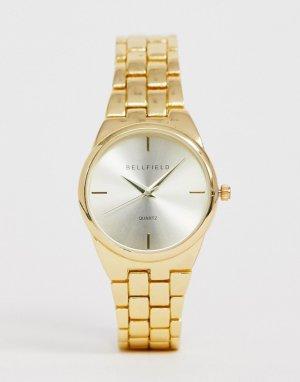 Золотистые женские часы -Золотой Bellfield