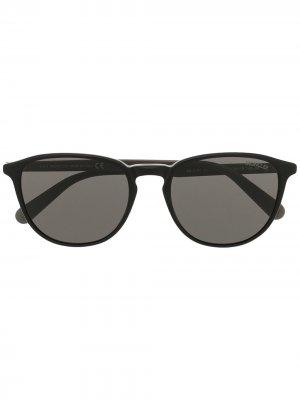 Солнцезащитные очки в D-образной оправе Moncler Eyewear. Цвет: черный