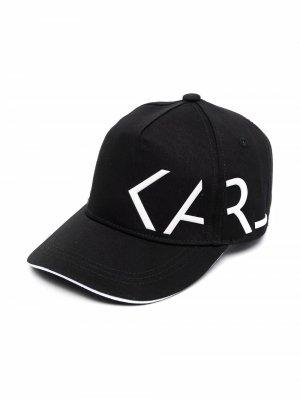 Кепка с логотипом Karl Lagerfeld Kids. Цвет: черный
